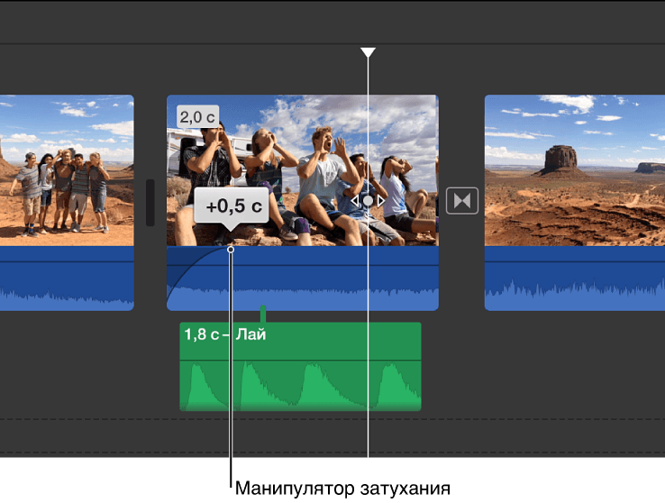 обрезать видео iMovie